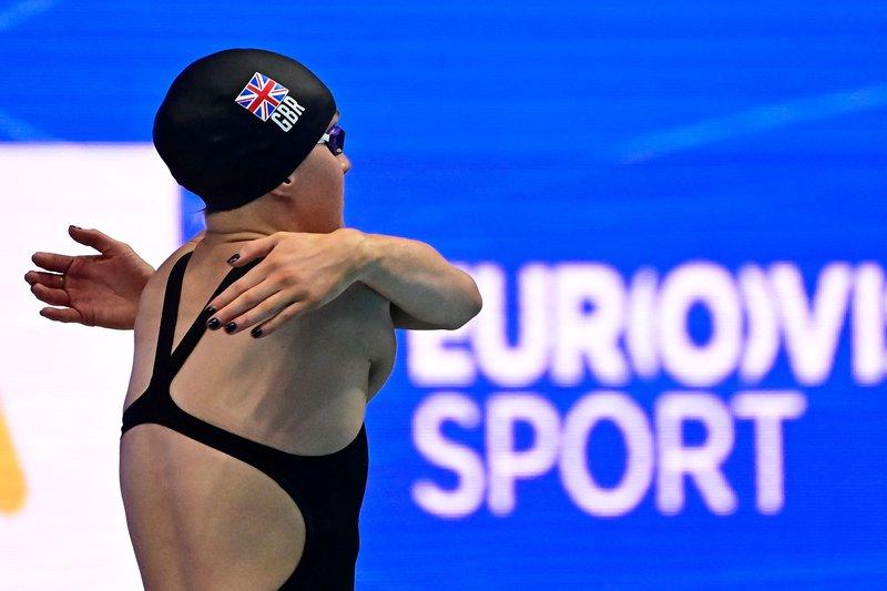 Abbie Wood 200m Breaststroke heats European Champs 2021 [AFPGettyImages]