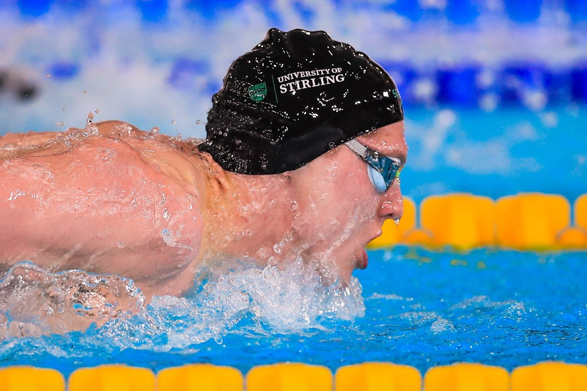 Men's 200m Butterfly nicely poised