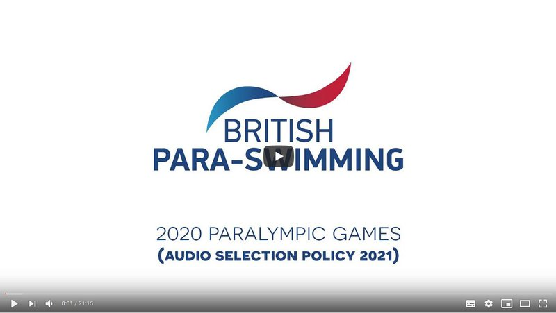 Paralympic Policy Audio Video Screenshot