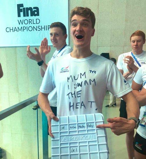 Wilby t-shirt Mum I swam the heat
